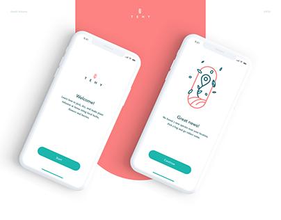 Tehy - Mobile UI/UX Concept