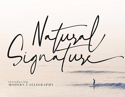 FREE FONT | Natural Signature