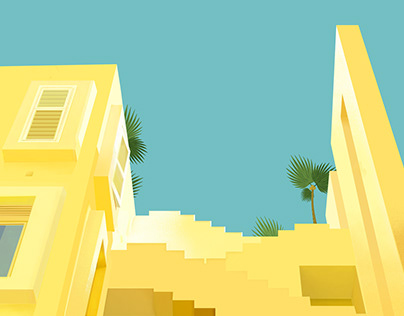 Architecture Illustrations for the Fiverr company