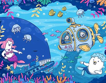 遠百信義A13《波寶島-海底童樂園》|牆面&商品設計