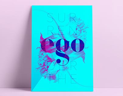 Surrender the ego Poster Design