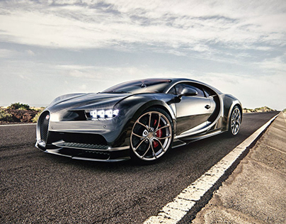 Bugatti Chiron rendering