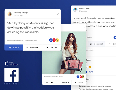 If It would Minimal - Design 01: Facebook Post Style
