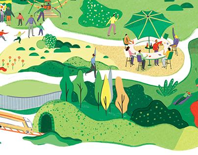 Destination Magazine Illustration
