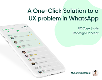 A One-Click Solution to a UX problem in WhatsApp