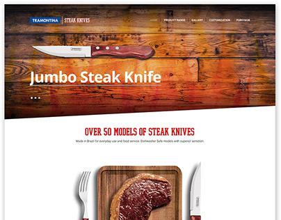Tramontina Steak Knives Promotional Landing Page 2016