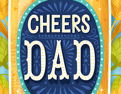 2019 Father's Day Card Illustration