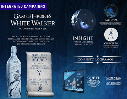 White Walker, Johnnie Walker - Integrated Campaigns