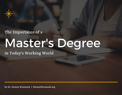 The Importance of a Master's Degree