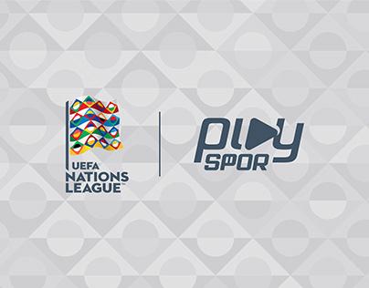PlaySpor UEFA Uluslar Ligi Yayın Görselleri