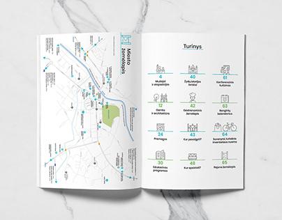 Few spreads from Anykščiai city tourism guide