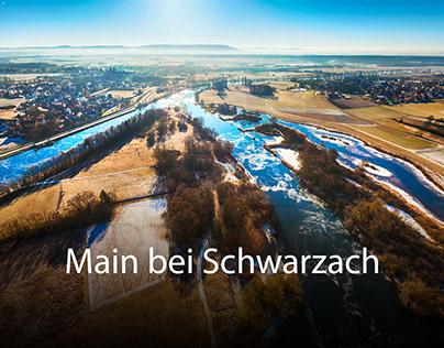 Luftbilder vom Main bei Schwarzach