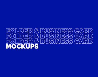 FREE Folder and business card mockups