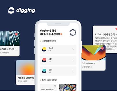 digging - idea APP   UI UX design