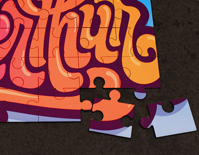 Puzzle lettering