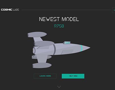(IN PROGRESS) Fictional Aerospace company Web Design