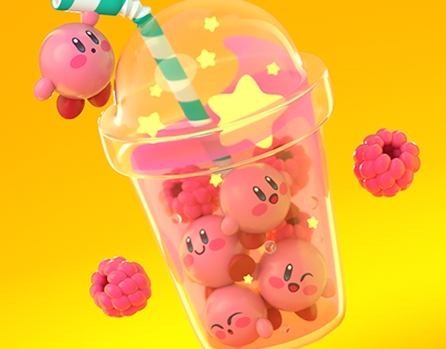 Kirby Bubble Tea