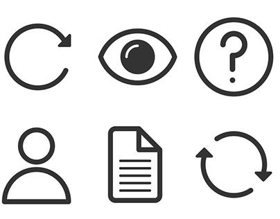 Glyphs for UI