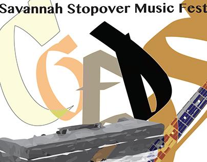 Savannah Stopover Music Festival Poster Design