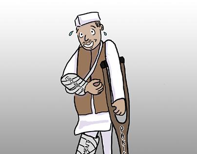 Political cartoon - Indian Politician 2020