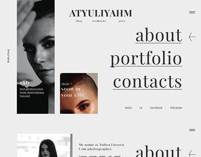 Personal website | Photographer portfolio