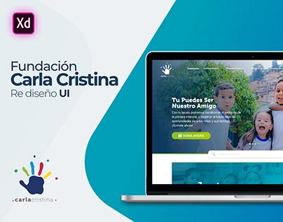 Re diseño UI Web Fundación Carla Cristina