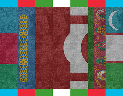 Flags of 7 Turkic Countries