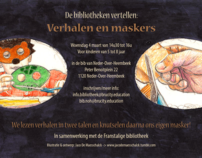 Flyer for a library in Brussels