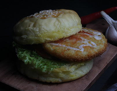 Chicken Burger Food Photography