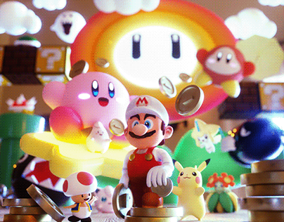 Nintendo Character 3D Artwork