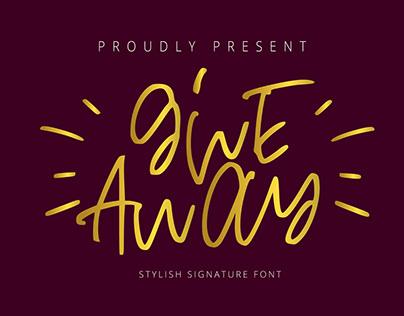 give away font script handwrittenmodern simple