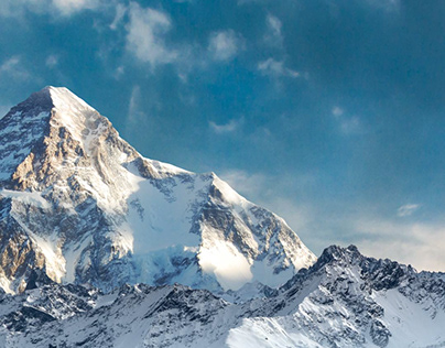 Image of mountains with parallax effect