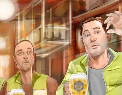 Beer ad animatic
