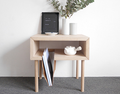 Side Table + leather sling