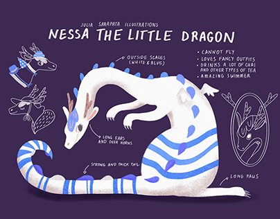 Nessa, The Little Dragon Character Concept