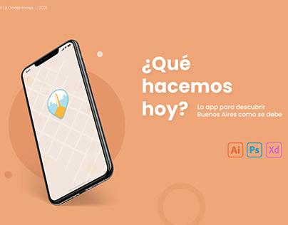 ¿Qué Hacemos Hoy? App Diseño UX UI