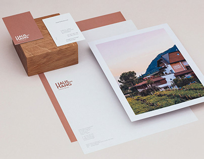 visual identity of hotel and restaurant haus am hang