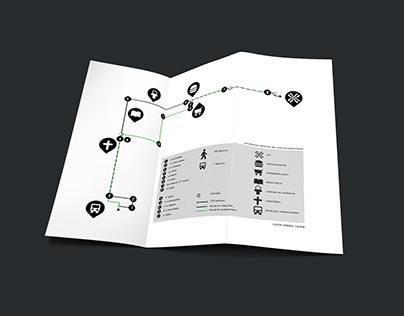 Infografia - Trajecto Estação Ferroviária Tomar - IPT