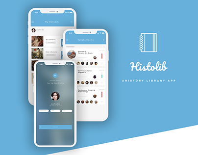 HistoLib App UI/UX Design