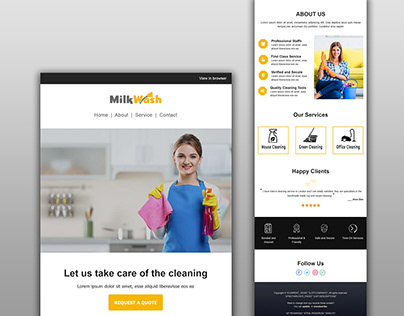 Responsive mailchimp email template cleaning newsletter