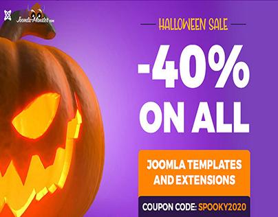 Spooky discount on Joomla templates & extensions.