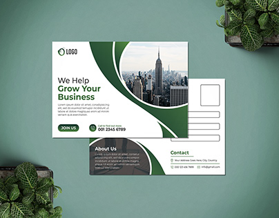 Professional Postcard Design Template.