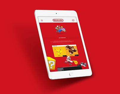 Nintendo App — Design Concept (IPad Version)