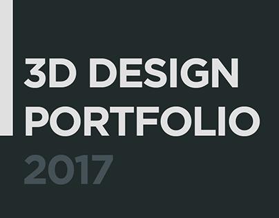 3D Design Portfolio 2017