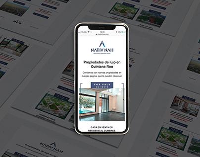 Newsletter Real Estate Natiiv Nah bienes raices