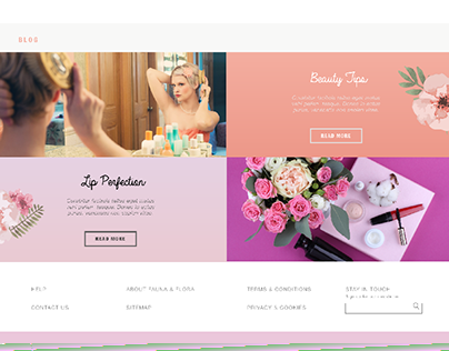 Fauna & Flora - Web Mock-Up
