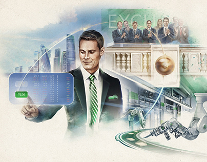 Illustrations for investment company Freedom Finance