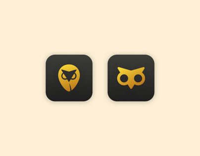 Owl and Location Illustration Icons