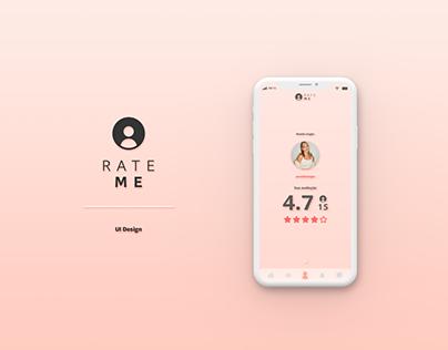 Rate Me | UI Design