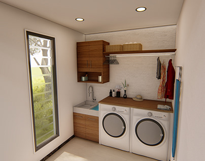 Compact Laundry Room Design